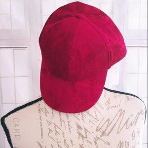 NWT Charming Charlie Red Velvet Baseball Cap